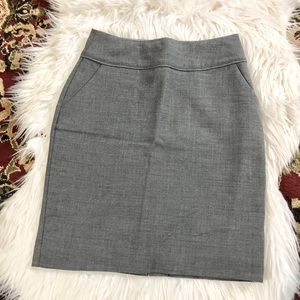 H&M Gray Pencil Skirt with Pockets